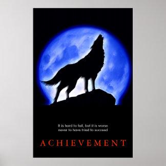 Stylish Unique Motivational Wolf Poster Print
