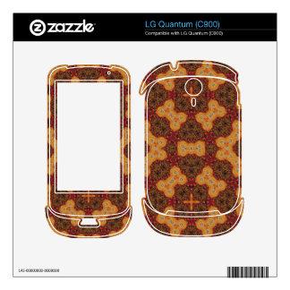 Stylish unique Pattern red orange Skin For The LG Quantum