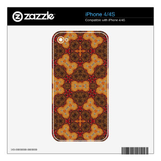 Stylish unique Pattern red orange Skin For The iPhone 4S