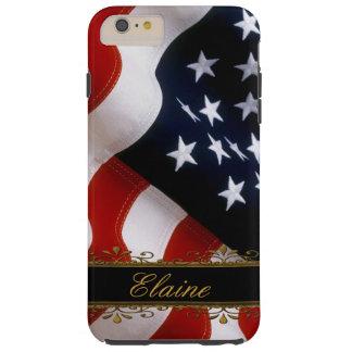 Stylish US Flag iPhone 6 Plus Custom Monogram Case Tough iPhone 6 Plus Case