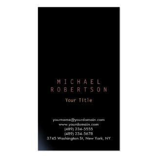 Stylish Vertical Black Plain Simple Business Card