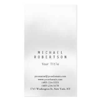 Stylish Vertical Grey Light Plain Business Card
