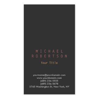 Stylish Vertical Grey Plain Simple Business Card
