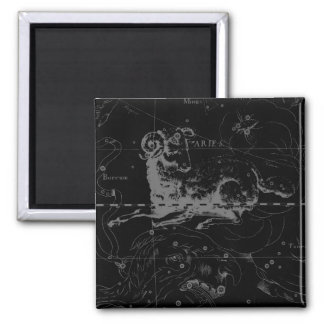 Stylish Vintage Aries Constellation by Hevelius Magnet