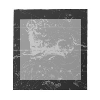 Stylish Vintage Aries Constellation by Hevelius Notepad