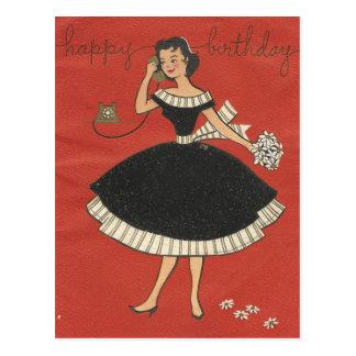 Stylish Vintage Birthday Card