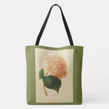 Aztec Themed Stylish-Vintage-Botanical-Art_Peach-Grass-Green Tote Bag