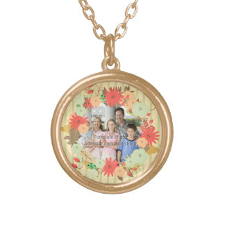 Stylish vintage look floral photo frame jewelry
