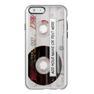 Stylish Vintage Music Cassette Tape Clear Look Incipio Feather® Shine iPhone 6 Case