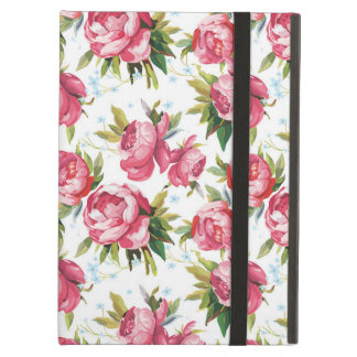 Stylish Vintage Pink Floral Pattern iPad Air Cover