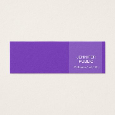 Lawyer Themed Stylish Violet Modern Professional Creative Chic Mini Business Card