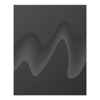 "Stylish Wave Design in Dark Gray. 4.5"" X 5.6"" Flyer"