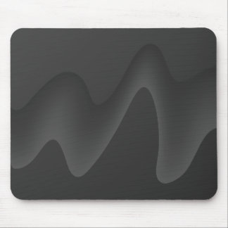 Stylish Wave Design in Dark Gray. Mouse Pad