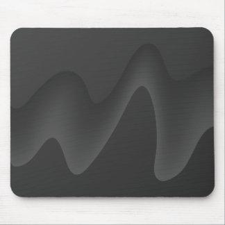Stylish Wave Design in Dark Gray. Mousepads