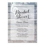 Stylish Weathered Wood Musical Bridal Shower Invites