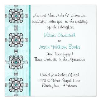 "Stylish Wedding Invitation 5.25"" Square Invitation Card"