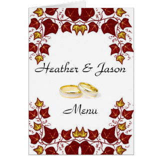Stylish Wedding Menu Card