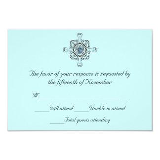 "Stylish Wedding Response Card 3.5"" X 5"" Invitation Card"