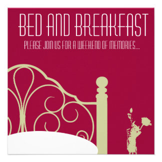Stylish Weekend Bed and Breakfast Invitation