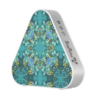 Stylish whimsical lux floral watercolor pattern speaker