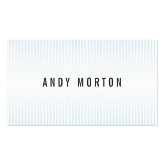 Stylish white blue stripes elegant professional Double-Sided standard business cards (Pack of 100)