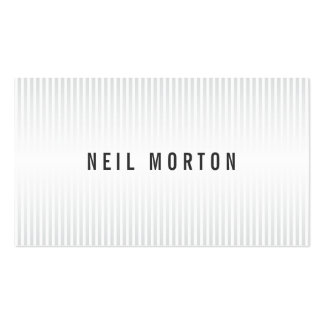 Stylish white gray stripes elegant professional Double-Sided standard business cards (Pack of 100)