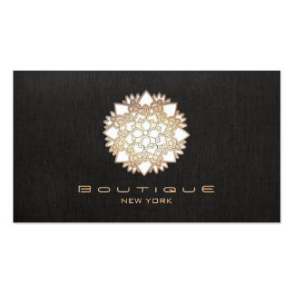Stylish White Lotus Flower New Age Double-Sided Standard Business Cards (Pack Of 100)