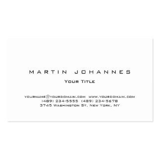 Stylish white plain professional business card
