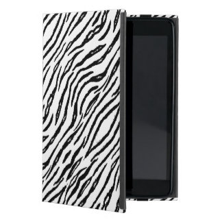 Stylish White Tiger Stripes Modern Animal Print Cover For iPad Mini
