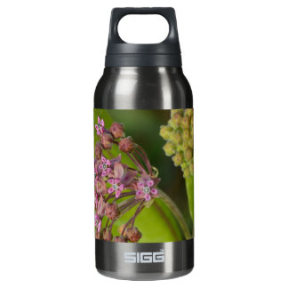 Stylish Wild Pink Milkweed with Green Leaves Thermos Bottle