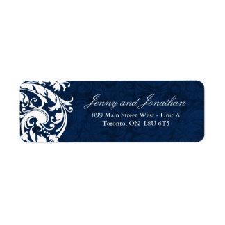 Stylish Winter Wedding RSVP Address Labels
