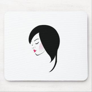 Stylish woman wearing a red lipstick mouse pad