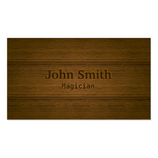 Stylish Wood Embossing Magician Double-Sided Standard Business Cards (Pack Of 100)