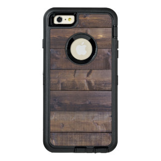 Stylish Wood Look Nature Wood Grain Texture OtterBox Defender iPhone Case