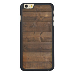 Stylish Wood Pattern - Nature Wood Grain Texture Carved Maple iPhone 6 Plus Slim Case