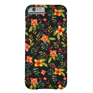Stylish Yellow Black Floral iPhone 6 Case