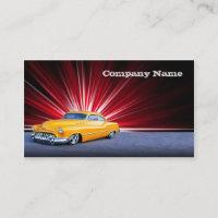 Stylish  Yellow Classic Car Business Card