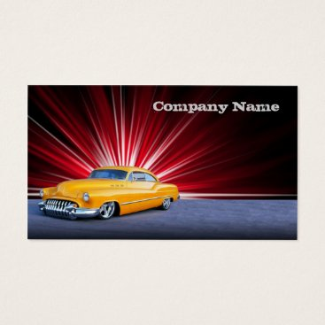 Professional Business Stylish  Yellow Classic Car Business Card