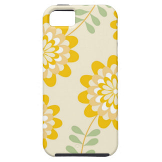 Stylish Yellow Floral Pattern - Cream iPhone 5 Cover
