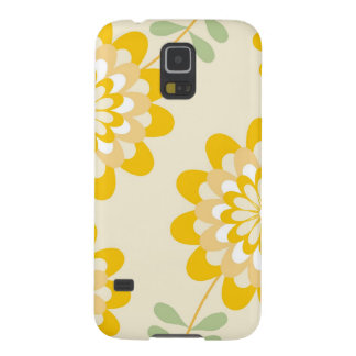 Stylish Yellow Floral Pattern - Cream Galaxy S5 Cover