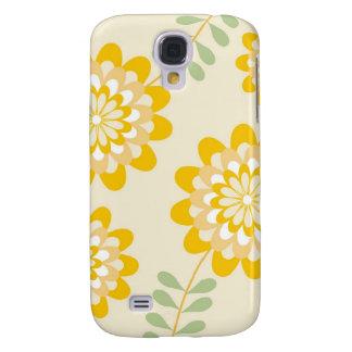 Stylish Yellow Floral Pattern - Cream Samsung S4 Case