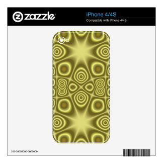 Stylish Yellow Geometric pattern iPhone 4S Skins