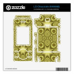 Stylish Yellow Geometric pattern Decals For LG Chocolate