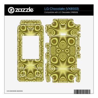 Stylish Yellow Geometric pattern Decals For LG Chocolate