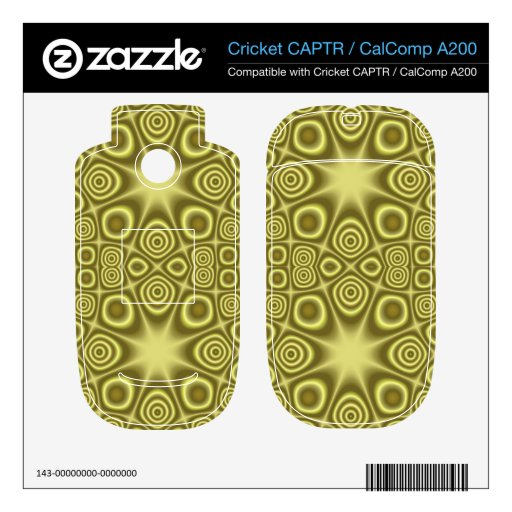 Stylish Yellow Geometric pattern Decal For Cricket CAPTR