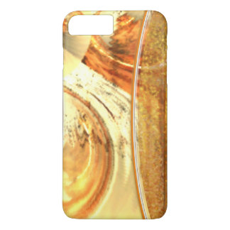 Stylish Yellow Natural Earth Tones Abstract Slim iPhone 7 Plus Case