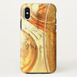 Stylish Yellow Natural Earth Tones Abstract Slim iPhone X Case