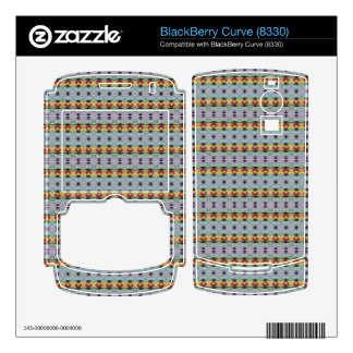 stylish yellow red deco pattern BlackBerry decals