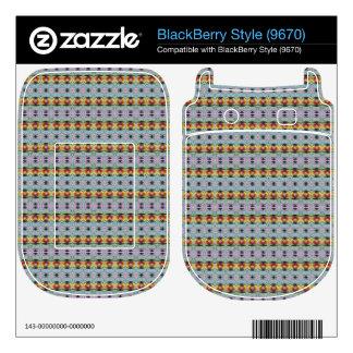 stylish yellow red deco pattern BlackBerry skin