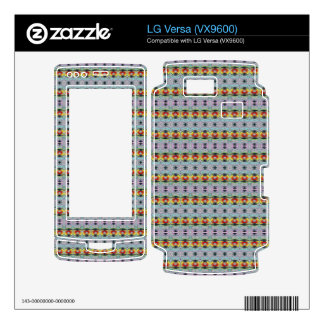 stylish yellow red deco pattern decal for LG versa
